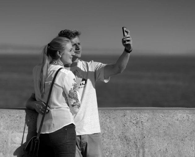 Selfie of young love