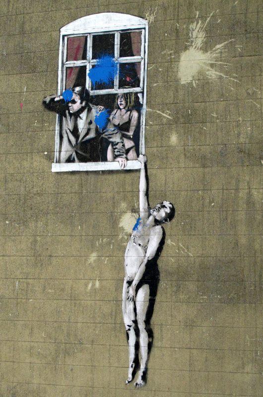 Banksy-stencil